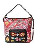Desigual Bag Folklore Cards Olesa Women, Sacs portés épaule femme, Noir (Negro), 14x32.5x31 cm (B x H T)