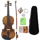 ammoon Violon 4/4 Pleine grandeur Instrument à 4 cordes en ébène avec...