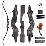 SinoArt 58' Takedown Recurve Bow Archery Left Handed Riser Bow for Hunting Target Shooting 30-60Lbs (45lbs)