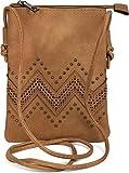 styleBREAKER petit sac à bandoulière avec motifs découpés en forme de zigzag...