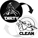 Dishwasher Magnet Clean Dirty Sign Indicator - Double Sided Clean Dirty Dishwasher Magnet - Kitchen Magnet for Dish Washer - Gifts for Dad and Mom from Son and Daughter - Creative Gifts for Husband
