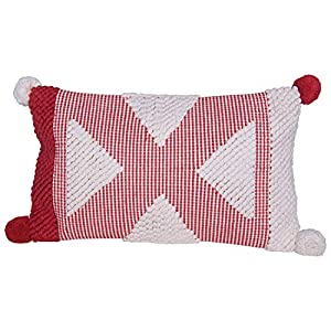 "Add fun to this holiday season with a special Christmas pillow Transform the bedroom for the holidays by simply adding festive pillows Perfect for adding to a couch, chair, bench or window seat 26""L x 3""W x 14""H"