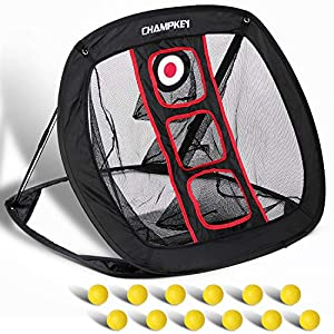 Package includes 1 chipping net,12 foam balls !you can set up in seconds and practice anytime. CHIPPING NET : Professional Chipping net designed to improve your all chipping skill levels. 12 FOAM BALLS: The foam ball Made of compressed foam material ...