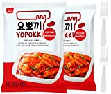 Tteokbokki Korean Rice Cake Instant (Pack of 2, Spicy & Sweet Sauce) Korean Snack Tteok Tteokbokki Rice Cake 떡볶이