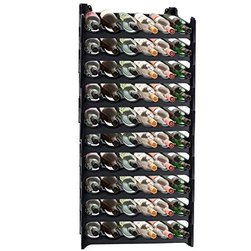 ARTECSIS Cantinetta Portabottiglie in Plastica Modulare 60 Bottiglie Antracite