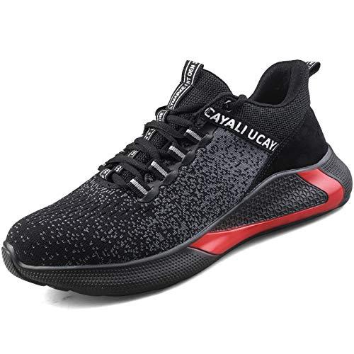 UCAYALI Zapatillas de Seguridad Hombre Zapatos de Trabajo Mujer Zapatos de Seguridad Deportivos Ligero Zapatillas con Punta de Acero Negro Gr.42