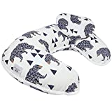 Baby Breastfeeding Nursing Pillow and Positioner,Machine Washable, Nursing and Infant Support Pillow Bonus Head Positioner New Package(Bear)