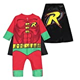 Warner Bros. Justice League Robin Toddler Boys Zip-Up Caped Costume Coverall (2T)