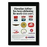 ハワイアンポスター エアラインシリーズ <ハワイアン航空 Neary Sixty YEars> A-19