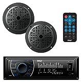 Pyle Marine Headunit Receiver Speaker Kit - In-Dash LCD Digital Stereo...