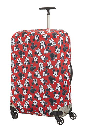 Samsonite Global Travel Accessories Disney - Coperture in Lycra per Valigia, L, Rosso (Mickey/Minnie...