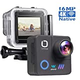 Matego Native 4K WiFi EIS Action Camera with 16MP Image Stabilization 170° Wide Angle Helmet Action Cam Waterproof Sport Camcorder 98ft Underwater Cameras for Diving Snorkeling,Accessories Kit