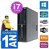HP PC Workstation Z220 SFF Core i7-3770 RAM 16Go Disque Dur 1To Windows 10 WiFi (Reconditionné)