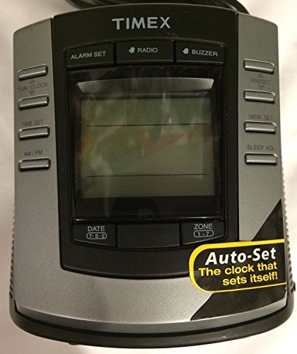 Timex T301B Auto Set Dual Alarm Digital Tuning Clock Radio