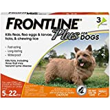 FRONTLINE Plus Flea and Tick Treatment for Dogs (Small Dog, 5-22 Pounds, 3 Doses)
