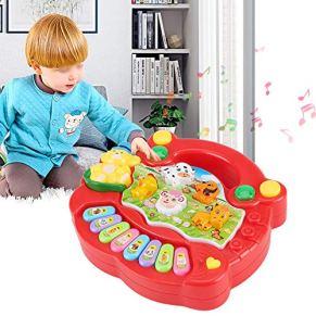 con piano de juguete de diseño suave, juguete musical no tóxico y seguro para niños(CP5031A red)