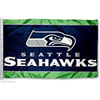 3-ft x 5-ft team flag Team logo displayed at the center of the flag Attached D-rings so it is easy to display Constructed of durable 3-thread polyester Designed with long lasting color-fast dye