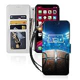 バスケットボー basketball アイフォン11、11 Pro、11Pro MAXレザー手帳型機能付き カード収納……