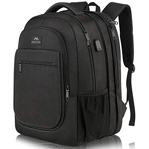Travel Backpack for Men, Expandable Laptop Backpack with USB...