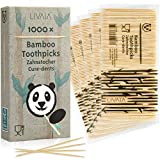 Zahnstocher Holz: 1000x Premium Bambus Zahnstocher für schonende Zahnpflege – Holz Zahnstocher aus Bambus für Zahnhygiene und zum Basteln – Zahnhoelzer Holz rund – Nützliche Haushaltshelfer von LIVAIA