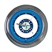"""Classic Neon design 15"""" diameter Features team logo, mascot Takes 1AA battery. Not included"""