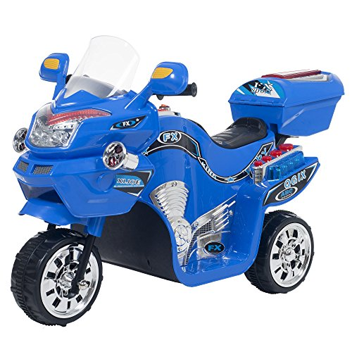 Ride on Toy, 3 Wheel Motorcycle Trike for Kids by Rockin' Rollers  Battery Powered Ride on Toys for Boys and Girls, 2 - 5 Year Old - Blue FX