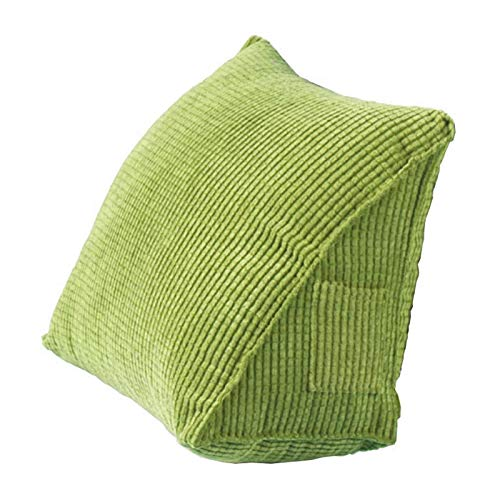 Cuscino triangolare posteriore, cuscino a cuneo per supporto letto, cuscino per schienale divano sedia da ufficio cuscino per divano per adulti bambini (verde)