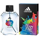 adidas Team Five Special Edition Eau De Toilette Spray for Men, 3.4 Fl Oz