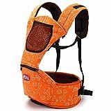 WPHH Portabebé Ergonómico Multifuncional Porta Bebé con Múltiples para El Recién Nacido, Transpirable Y Ligero,Naranja