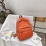 Nueva Bolsa De Hombro Versión Coreana Femenina De La Marea Moda Simple Color Sólido Mochila De Viaje Al Aire Libre Bolsa De Estudiante De Gran Capacidad 5 30 * 11 * 38Cm