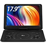 """DR. J 17.9' Region Free Portable DVD Player with 6 Hours Rechargeable Battery, Large 15.4"""" Screen..."""