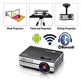 USB inalámbrico Bluetooth mini portátil LED de cine en casa HDMI proyector SMART LCD Android Wifi proyector de vídeo HDMI VGA Audio Airplay Miracast Aplicaciones for Smartphone Protectores de teléfono