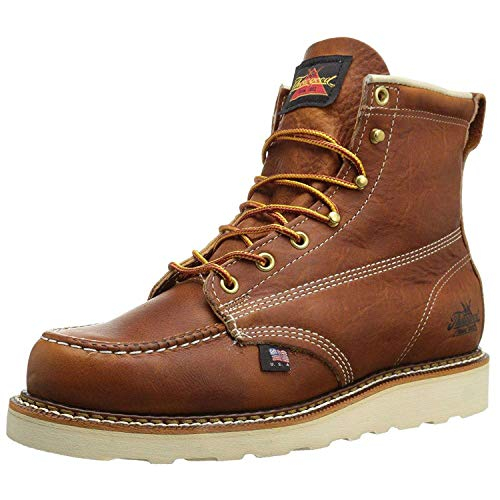 """Thorogood Men's 814-4200 American Heritage 6"""" Moc Toe, MAXwear Wedge Non-Safety Toe Boot, Tobacco - 5 D(M) US"""