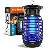 LEDIARY Bug Zapper Outdoor, 4300V High Powered Mosquito Killer Electric, 15W Waterproof Fly Killer for Home, Kitchen, Backyard