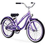 Firmstrong Bella Classic Girl's Single Speed Cruiser Bicycle, 20-Inch, Purple