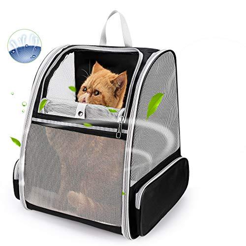 Lollimeow Mochila transportadora de Mascotas para Perros y Gatos, Cachorros, Malla Totalmente ventilada, aprobada por aerolíneas, diseñada para Viajes, Senderismo, Caminatas y Uso al Aire Libre