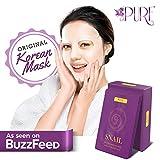 LA PURE Korean Face Mask - Hydrating Sheet Mask, Beauty Snail Mask,...