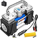 Digital Air Compressor Heavy Duty, 150PSI Fast Tire Inflator for Car Large Tires, 26Ft Dual Power Air Pump Portable, 12V Tire Pump with Tire Pressure Gauge Auto-Off, Air Inflator for RV SUV Trucks