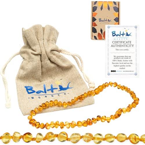 Baltic Wonder Baltic Amber Necklace (Baroque Honey) Unisex -...