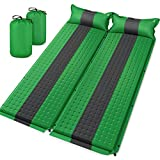 Sleeping Pad for Camping 2 Packs - Self Inflating Foam Mat - Backpacking Camping Mattress with Pillow(Thick)