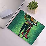 Mouse Pad for Laptop Computer & PC, Non-Slip Rubber Base Printing Design Mexican Skeleton Musician Sugar Skull Musician Crow Zombie Accordion Music Skeleton with hat Rectangle (260mm210mm3) Lovely