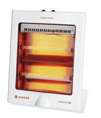 Singer Quartz Heat Glow Plus 800-Watt Room Heater (White)