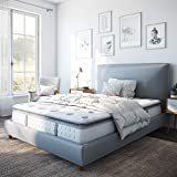 Classic Brands Mercer Pillow-Top Cool Gel Memory Foam and Innerspring Hybrid 12' Mattress, Twin, White