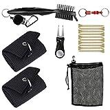 Pro-ALIGN Kit d'outils et accessoires de golf avec sac - 2 chiffons avec...
