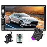 Hikity Double Din Car Stereo 7 Inch Touch Screen Radio Bluetooth FM Receiver Support Mirror Link for...