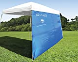 ezShade 10' Angled Leg Canopy Sidewall - Blocks 99% UVA/UVB - Keeps you COOLER, DOUBLES your SHADE and INSTANTLY ATTACHES to ANY 10'x10' Angled Leg Canopy - now with WIND VENTS. CANOPY NOT INCLUDED