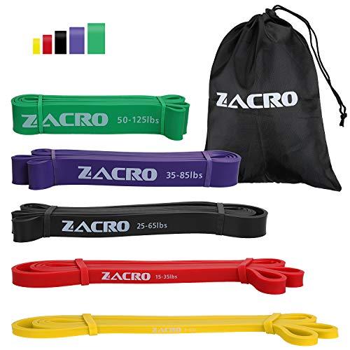 Zacro Elastiche Resistenza Band (5 Packs) Elastiche Fitness Band di Resistenza in Lattice Naturale...