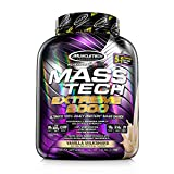 Mass Gainer Protein Powder   MuscleTech Mass-Tech Extreme 2000   Whey Protein Muscle Builder for Men & Women   Protein + Creatine Monohydrate + Carbs   Max-Protein for Weight Gain   Vanilla, 7 lb