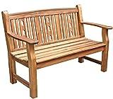 Dehner Gartenbank Bristol, 2-Sitzer, ca. 130 x 66 x 88.5 cm, FSC Akazienholz, natur