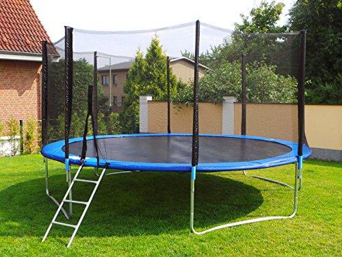 Letixsports Trampolin mit Sicherheitsnetz, inklusive Leiter und Randabdeckung Gartentrampolin 250, 305, 370, 400, 430cm (10FT / 305cm)